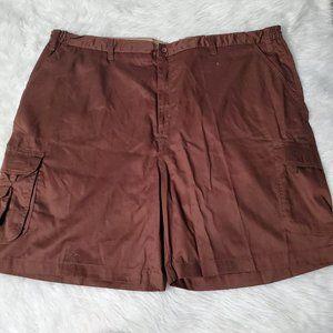 Triple Waist Stretch 7 Pocket Cargo Brown Shorts